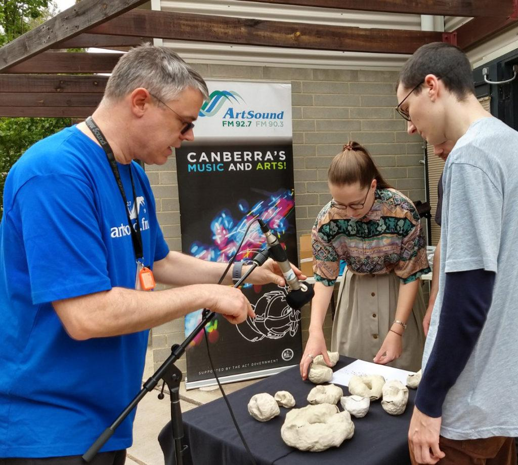 Outside Broadcast at the Canberra Potters Open Day